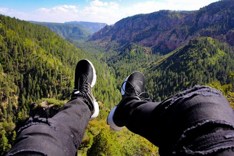 Oak creek canyon in Arizonan! Hiking View Shots Photo Sedona Live Love Amazing Green Nike ArtDay Nature Mountain Road