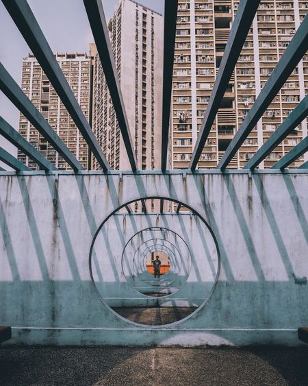 Architecturelovers One Man Only One Person EyeEm Best Edits EyeEmBestPics EyeEm Selects EyeEm Gallery EyeEm Best Shots The Week on EyeEm Architecture_collection Architecture Built Structure Connection Bridge - Man Made Structure Day Water Modern Building Exterior