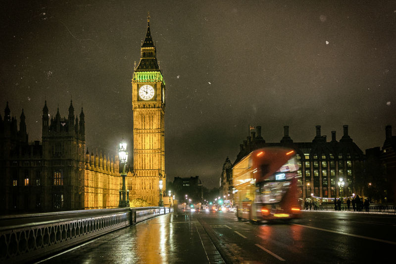 Low Angle View Of Big Ben At Night