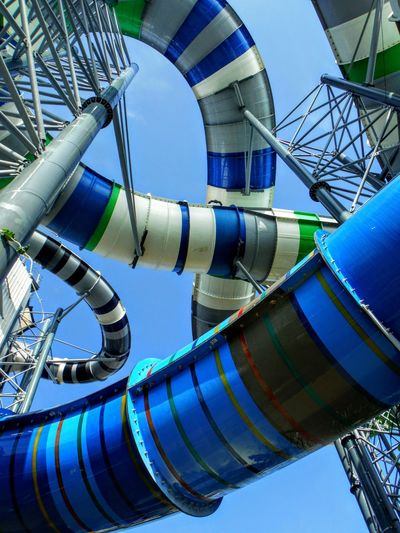 Plastic Tunnels of awesome wet adventures. Waterslides and Water Parks are The Essence Of Summer for kids (and adults 😊). Waterslide Multi Colored Lookingup Colorful Curves And Lines Loops Structures & Lines Waterpark Looking Up Water Slides Curvy Tubes Abstract Abstract Photography Sky Background Water Slide Thailand Fujifilm Finepix Xp60 Adventure Awaits