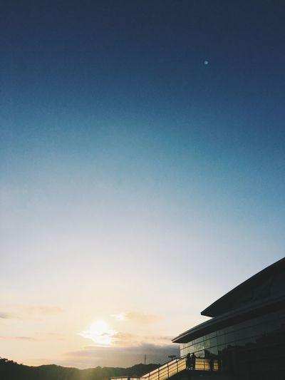 Blue Sunset Sky