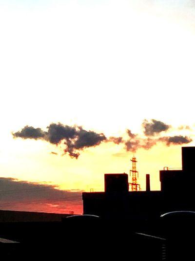 Architecture Built Structure Silhouette Building Exterior Sunset Sky No People Colour Your Horizn Go Higher
