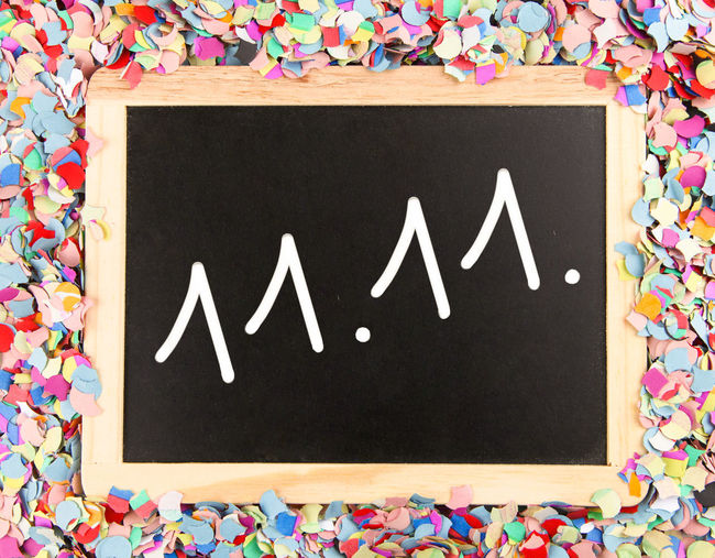 11.11 11.11. Carnival Fasching Alaaf Blackboard  Confetti Helau