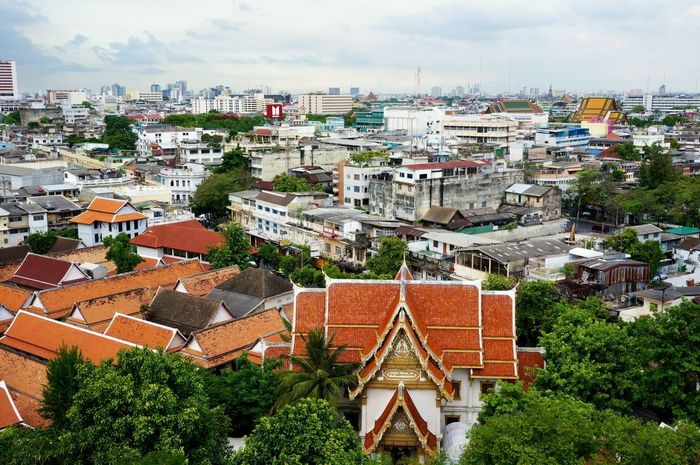 Discover Your City Bangkok Aerial Shot Cityscapes Embrace Urban Life