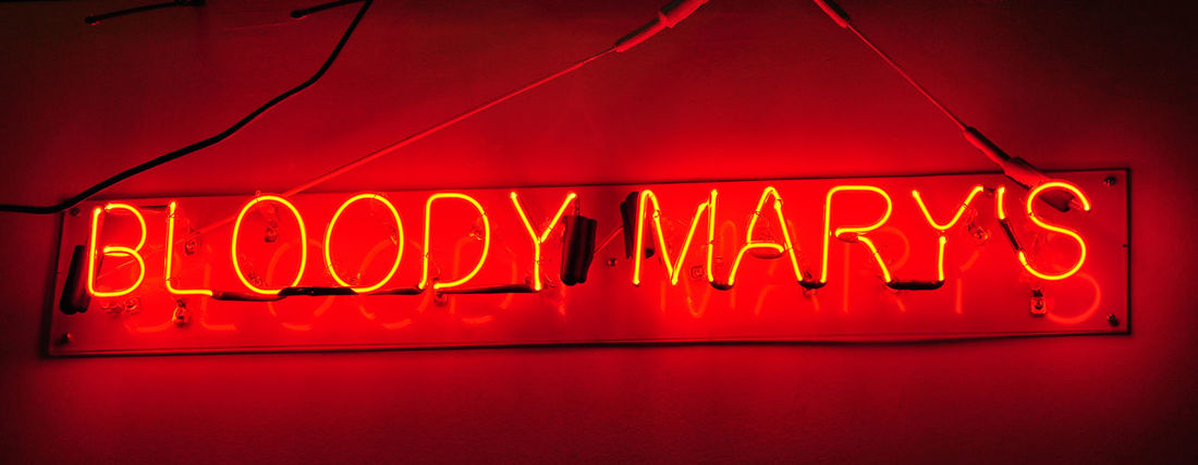 Bloody Marys Close-up Communication Illuminated Liquerstore Neon Neon Signage Night No People Outdoors Red Red Lights Text Neon Life