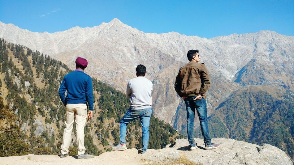 Full Length Outdoors Adults Only Togetherness Friendship Nature Triund Dharamsala McLeod Ganj Himachalpradesh Cold Temperature Beauty In Nature TrekkingDay Mountain Peak Hilltop Dharamshala Leisure Activity Real People Finding New Frontiers