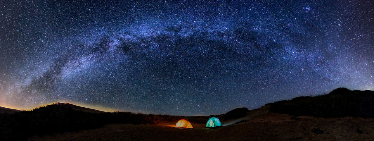 Camping Galaxy Astronomy Beauty In Nature Billionstarhotel Constellation Discovery Exploration Galaxy Illuminated Long Exposure Milky Way Mountain Nature Night No People Outdoors Scenics Science Sky Space Star - Space Star Field Star Trail Starry Stars Tents