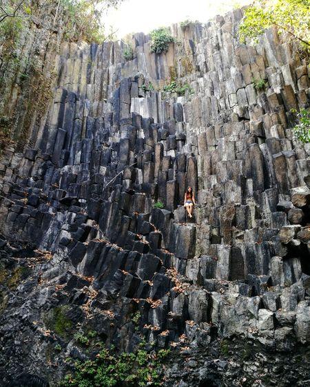 Basalt columns at Los Tercios, Suchitoto. Nature Outdoors Suchitoto Volcanoes El Salvador Impresionante Lava Rocks