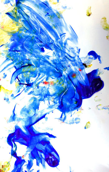 original art created by hand by a happy messy 2 year old Abstract Photography Artistic Messy Paint Abstract Child Art Close-up Creative Finger Painting Multi Colored Paintings By A 2 Year Old