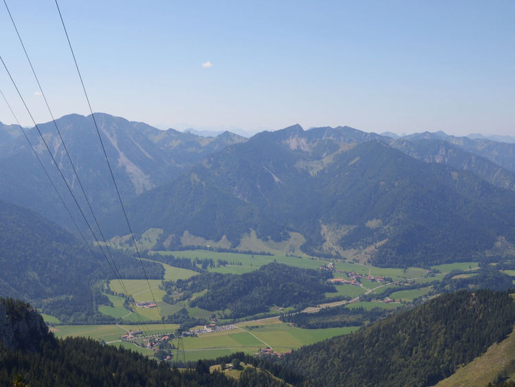 Bavarian Alps Distant Geology Hill Landscape Mountain Mountain Range Physical Geography Ropeway Senic Valley