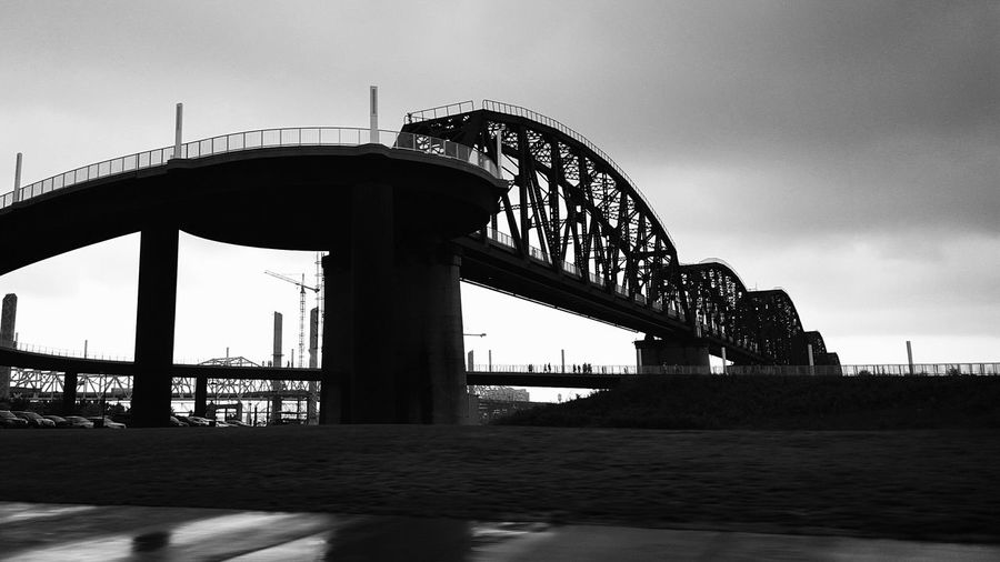 Low angle view of bridge at louisville waterfront park