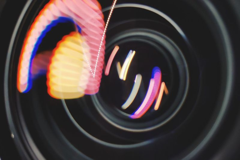 Appliance Black Background Blurred Motion Circle Close-up Electricity  Geometric Shape Glowing Illuminated Indoors  Light Light Painting Lighting Equipment Long Exposure Motion Multi Colored Night No People Pattern Shape Speed Technology