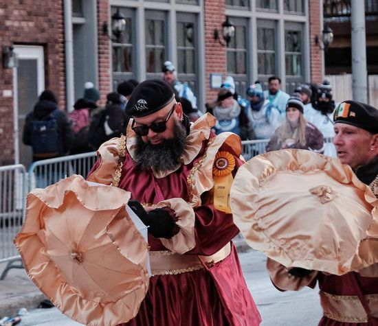 Phillylove ❤️ MummersParade2018 Real People Men Outdoors Lifestyles Day Cold Temperature Building Exterior City Only Men People