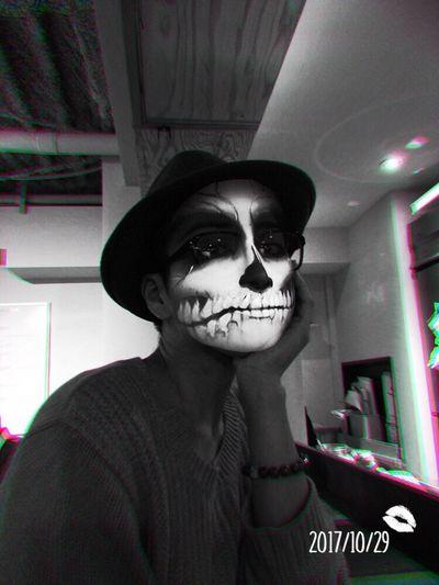 Hello World Halloween Portrait Blackandwhite Cafe Taking Photos Enjoying Life