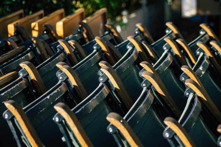 Close up of chairs