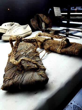 Dammam Heritage Museum Sandals Vernacular Nomadic Life Arabic Culture Display Saudi Arabia