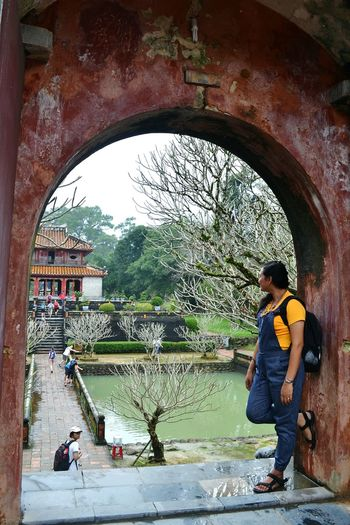 Behind The Wall Arsitecture Tomb Hue Vietnam Culture Chiness Style Keep Calm