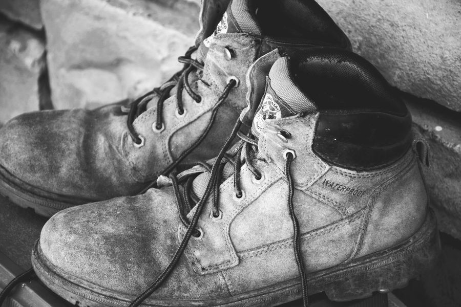 Close-up Shoe Adult People One Person Men Only Men Day One Man Only Real People Let's Go. Together. EyeEmNewHere Feelings Hiking Travel Photography Dirt Walking Tread Boots