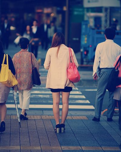 Stand out from the crowd Rear View City Life Walking Women Outdoors City Travel Photography