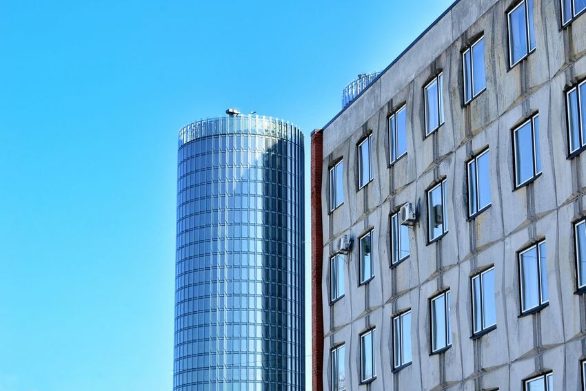 Urban life. Clear Sky Blue Architecture No People Day Outdoors City Travel Latvia RigaCity Minimalism