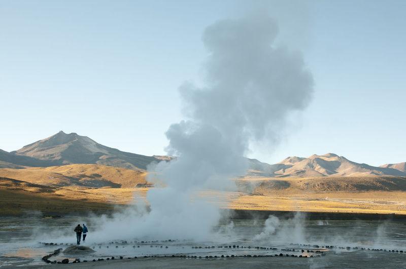 El Tatio Geyser Field - Chile Chile El Tatio Atacama Erupting Geology Geothermal  Geyser Hot Spring Mountain San Pedro De Atacama