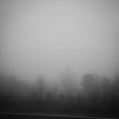 Fog on the highway Outthecarwindow Roadtrip GalaxyS5 Blackandwhitephotography