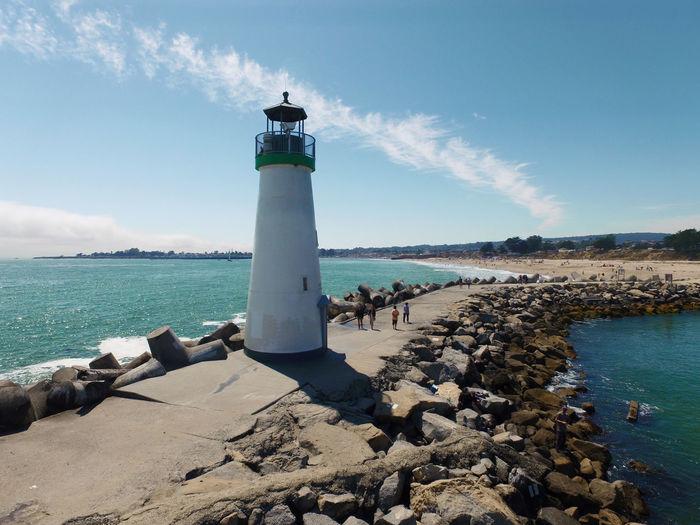 Blue Calm Cloud Coastline Day Lighthouse Ocean Sea Shore Sky Tranquil Scene Water