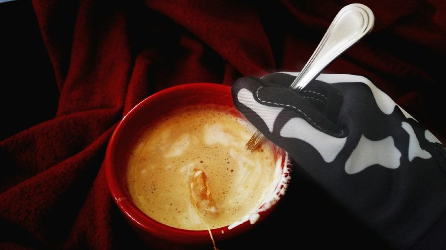 Me wearing a skeleton glove, holding a cup of coffee/tea mix. Skeleton Gloves Coffee Eye4photography  Taking Photos Drink Hot Beverage Cream Marshmallows Skeleton Gloves Relaxing Burgundy Red Tea Breakfast Dessert Showcase July Eyeem Market The EyeEm Collection Foam Halloween