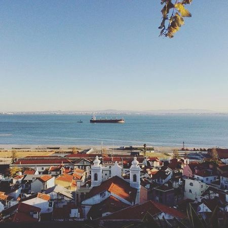 You can't get tired of this light. Sun Sunny River Lisboa Lissabon Lisbon Lisbonlife Tejo Rooftop View Portugal_em_fotos Portugal Boat Relaxing Lx