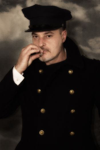 Close-up Doorman Gatekeeper Hat Portero Portrait Smoke Smoking Uniform