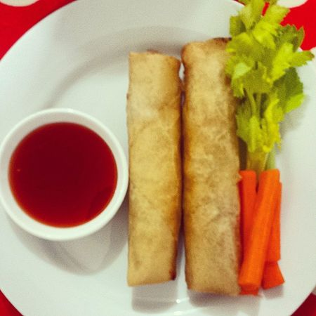 DAY 5 OF LENT | LUNCH | VegSpringRolls Homecooking @patricia_ruby Lent Nomeat NoBread NoRice HealthyLiving LyingToMyself