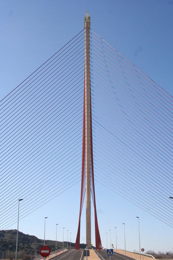 Puente de castilla la mancha bridge against clear sky