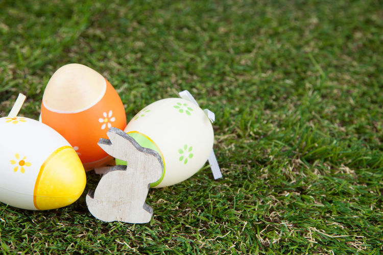 Easter Easter Eggs Bunny  Close-up Day Eggs Grass Growth Nature No People Outdoors
