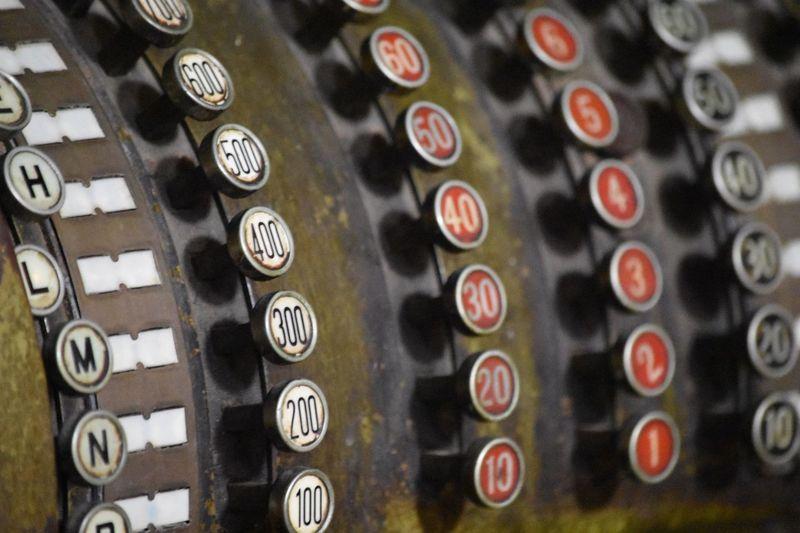 Full frame shot of cash register