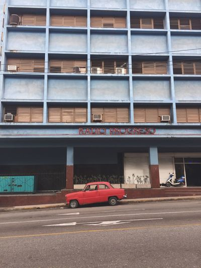 EyeEm Selects Architecture Car Red Building Exterior Transportation Built Structure Land Vehicle Road Outdoors Day No People City Havana Cuba