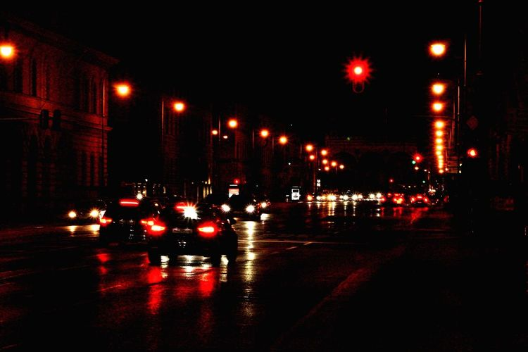 Transportation Mode Of Transportation Night Car Motor Vehicle Illuminated City Street Road Traffic Sign City Life Architecture Land Vehicle No People Street Light A New Beginning