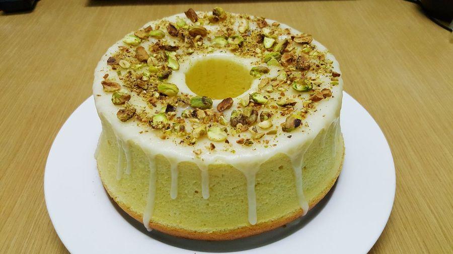 Lemonchiffoncake Pistachio Dessert Homemade Cake