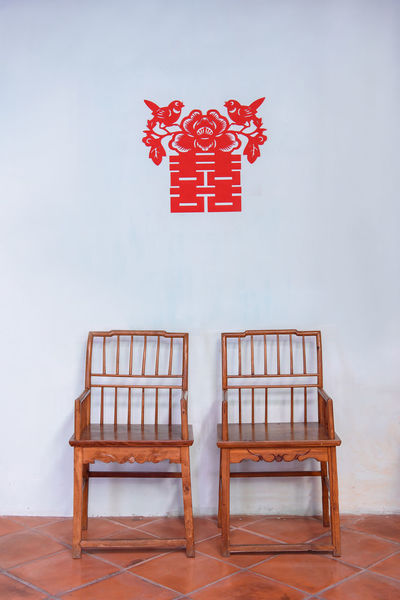 Ceremony Chair Converted Building Day Decoration Georgetown Handmade Happiness Heritage Hotel Indoors  No People Penang Red Sticker Tea Traditional Wedding