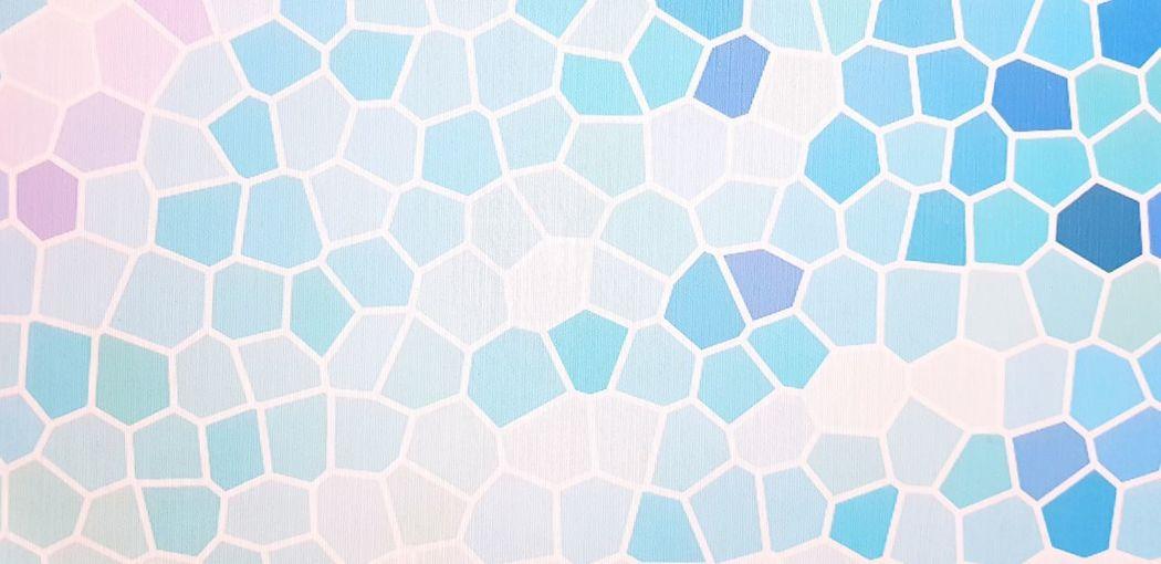 Full frame shot of blue ball on swimming pool