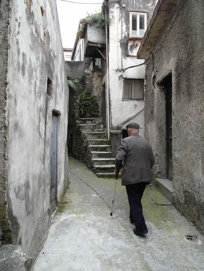 Glimpse with old man Italia Old Man South Italy Stairs Adult Adults Only Architecture Building Exterior Buildings Built Structure Calabria Full Length Glimpse Men One Man Only One Person Outdoors People Senior Adult Senior Women Standing Travel Destination Verbicaro