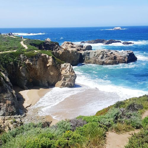 Coast line Big Sur CALIFORNIA Sea Beach Water Horizon Over Water Nature Sand Day Outdoors Sunlight Scenics Tranquility No People Beauty In Nature Shadow Sky Camping Trip California Capture The Moment Tourist Nature California Love Landscape Takeastepback Tourist Hiking Tree