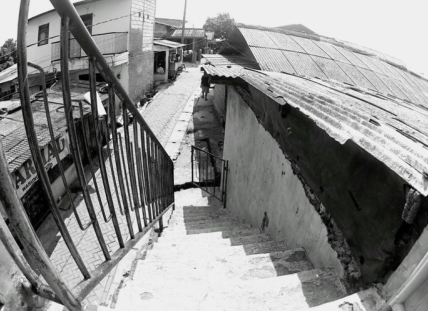 Around the Village Cibodas Architecture Built_Structure Building Exterior Outdoors Day Sky Stairs Stairs_collection Down The Stairs Village Village Life Village View Village Photography EyeEmNewHere Let's Go. Together. EyeEm Selects