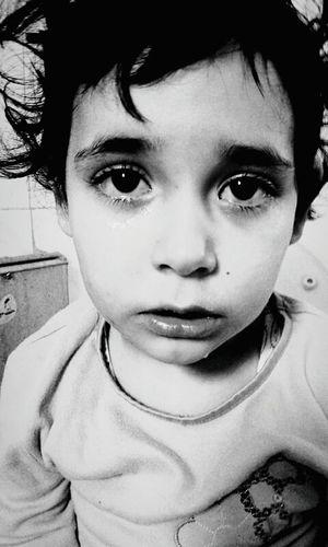 Blackandwhite Child Child Portrait Portrait Sadness Tears Babygirl Black And White Black & White Black And White Photography Look