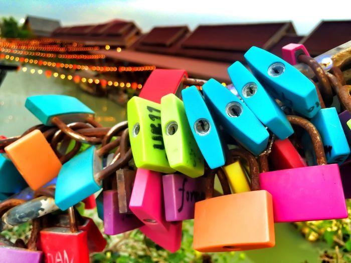 Detail shot of padlocks
