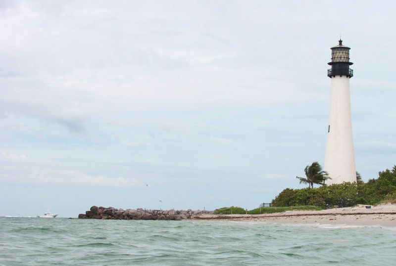 Architecture Beauty In Nature Guidance Horizon Over Water Key Biscayne Key Biscayne Lighthouse Lighthouse Miami, FL Nature Outdoors Scenics Sea Sky Tower Travel Travel Destinations Water