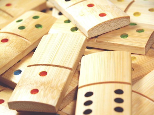 Showcase March Dominoes Bamboo Gambling Game Dominoe Pieces Counting Leisure Background Wooden Numbers Count