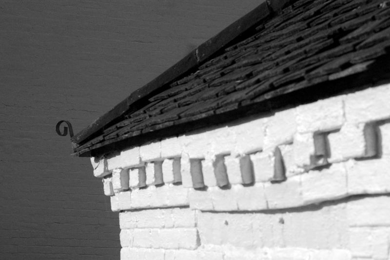 Roof Detail Architecture Black And White Blackandwhite Building Building Exterior Built Structure History Old Pattern Roof Roof Tile Sunlight The Past Wall Wall - Building Feature