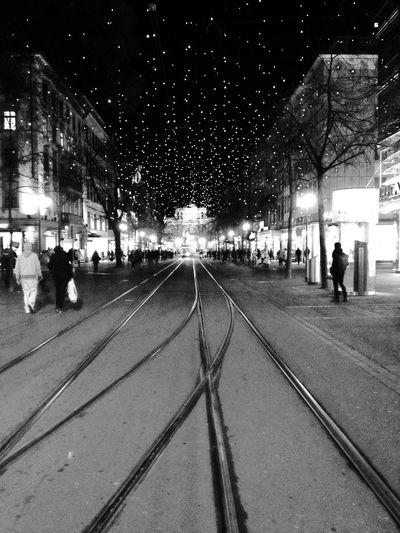 Zürich Switzerland Bahnhofstrasse Christmaslights