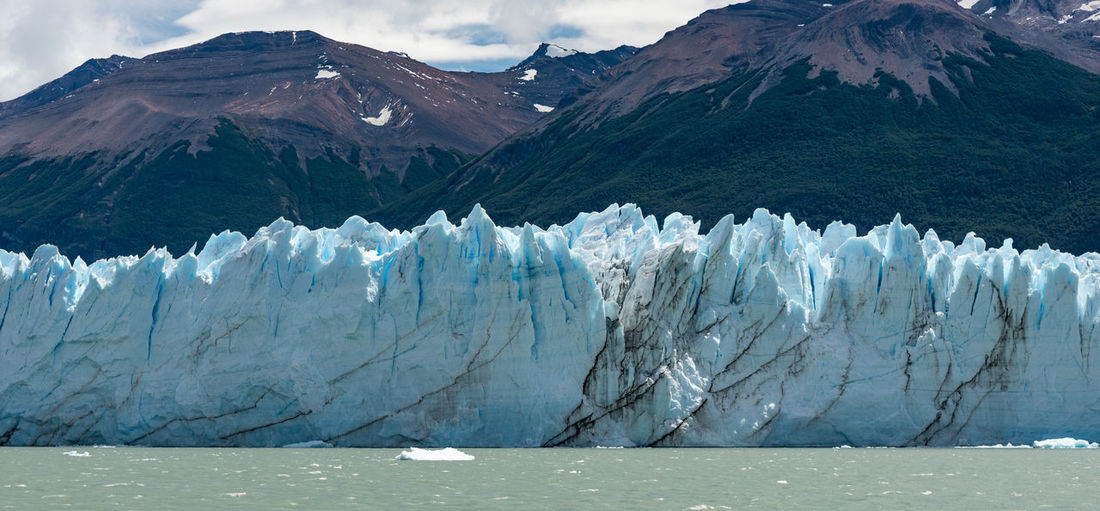 Scenic view of snowcapped mountains and glacier