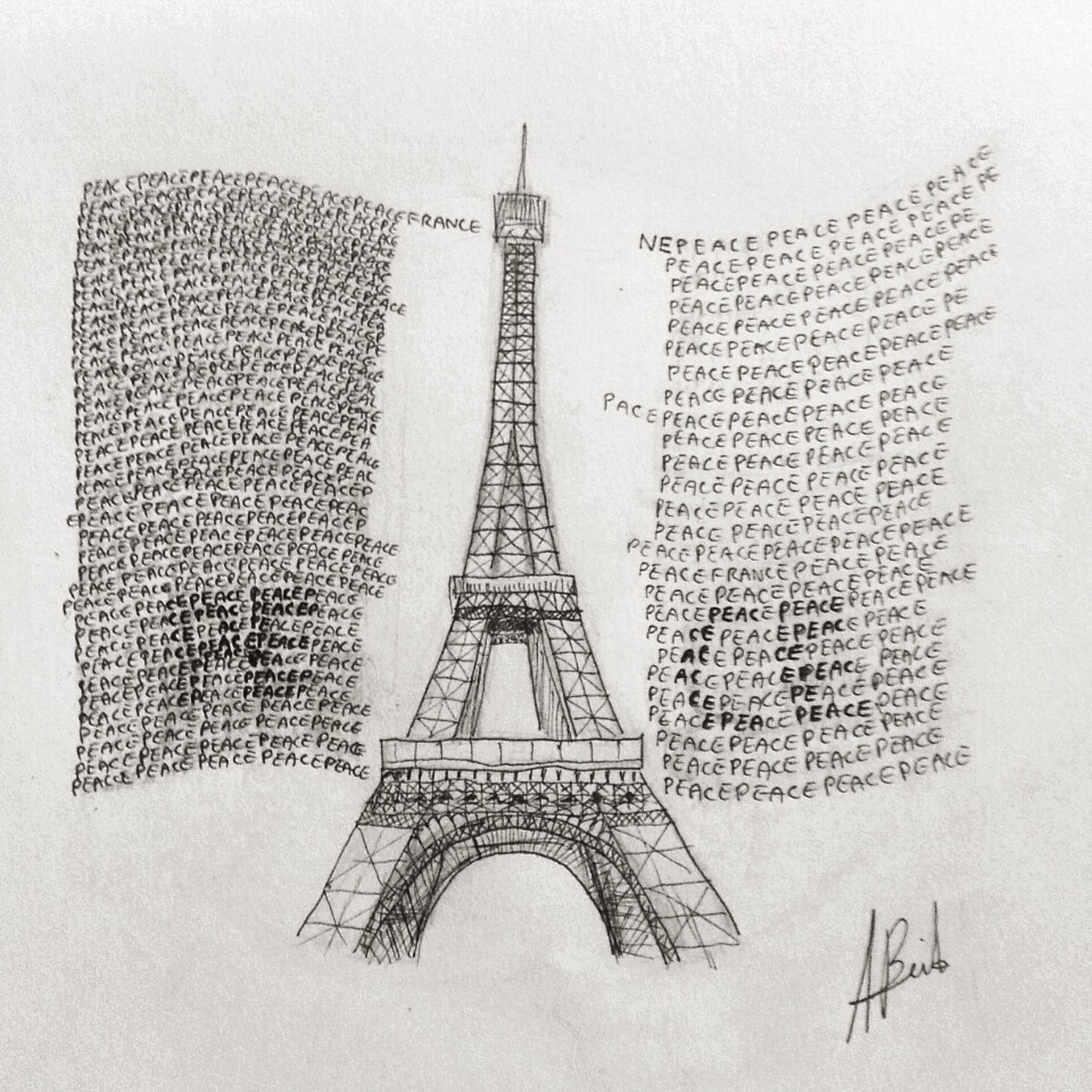 communication, text, architecture, built structure, western script, building exterior, religion, spirituality, art and craft, famous place, no people, creativity, tall - high, art, tower, day, low angle view, paper